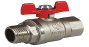 1 BUTTERFLY HANDLE BALL VALVE (Male)