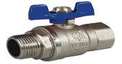 1/2 BUTTERFLY HANDLE BALL VALVE (Male)