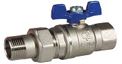3/4 BUTTERFLY HANDLE BALL VALVE WITH UNION